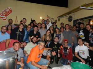 Participantes da 1ª brassagem do Beercast
