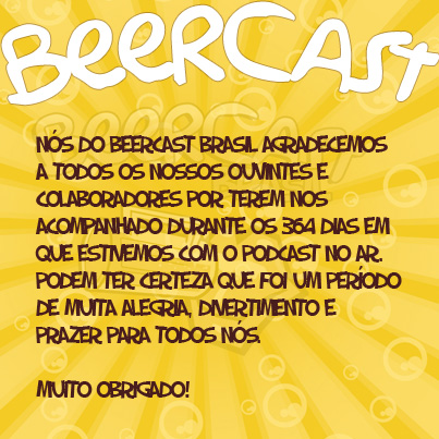 1 ano de Beercast - Muito Obrigado!