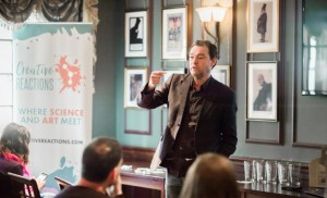 Palestra apresentada no Pint of Science na Inglaterra. Fonte: Pint of Science.